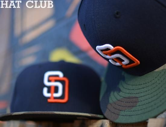 Custom San Diego Padres 59Fifty Fitted Cap by NEW ERA x   Hat Club ... ba420d795f9