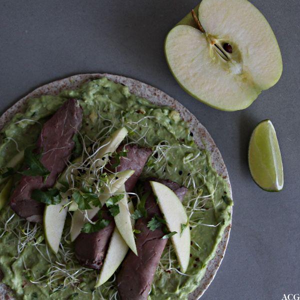Roastbiffwrap med avokadokrem - Enestående MatEnestående Mat