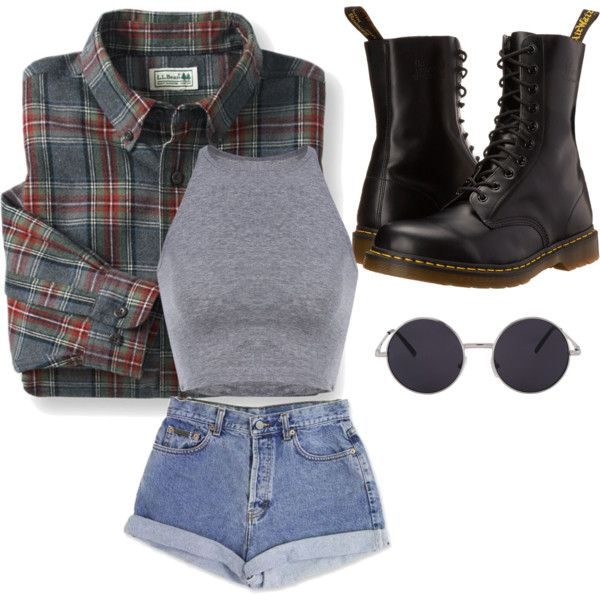 grunge by mysteryface on Polyvore featuring mode, Dr. Martens and Calvin Klein