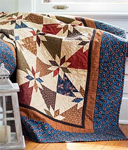 Hunter's Star Trapezoid Units Quilt Star Quilt
