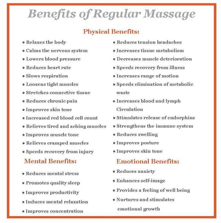 Benefits of Massage Therapy, good health