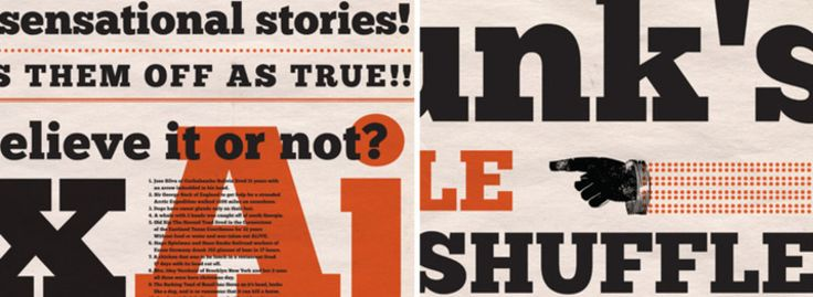 Chunk    Chunk is an ultra-bold slab serif typeface that is reminiscent of old American Western woodcuts, broadsides, and newspaper headlines. Used mainly for display, the fat block lettering is unreserved yet refined for contemporary use.