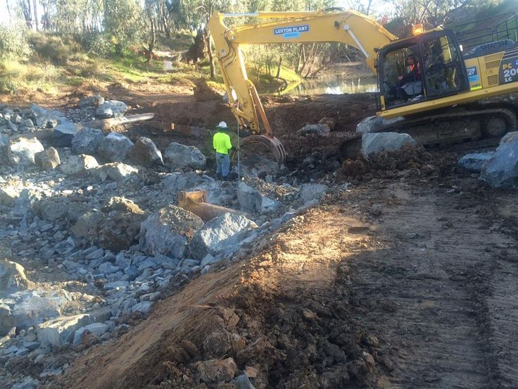 Echuca Weir Fishway Project using Mawsons Lake Cooper