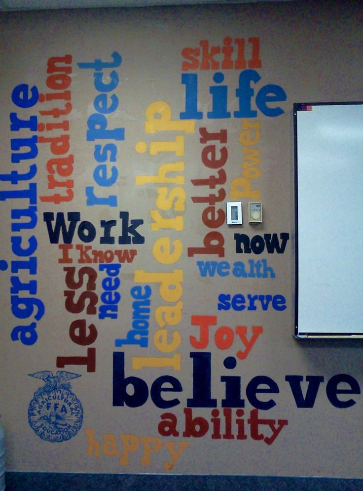 This may become the new mural in my classroom, since I think we really need a new whiteboard :)