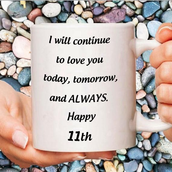 11th Wedding Anniversary Gift 11 Years Steel Anniversary Mug For Her 11 Year Jubilee 11 Yrs Dating Anniversary Romantic Gifts For Him Anniversary Gifts For Wife Romantic Anniversary Gifts Birthday Gifts For Girls