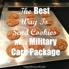 """The Best Way To Send Cookies In A Military Care Package"" So helpful!"