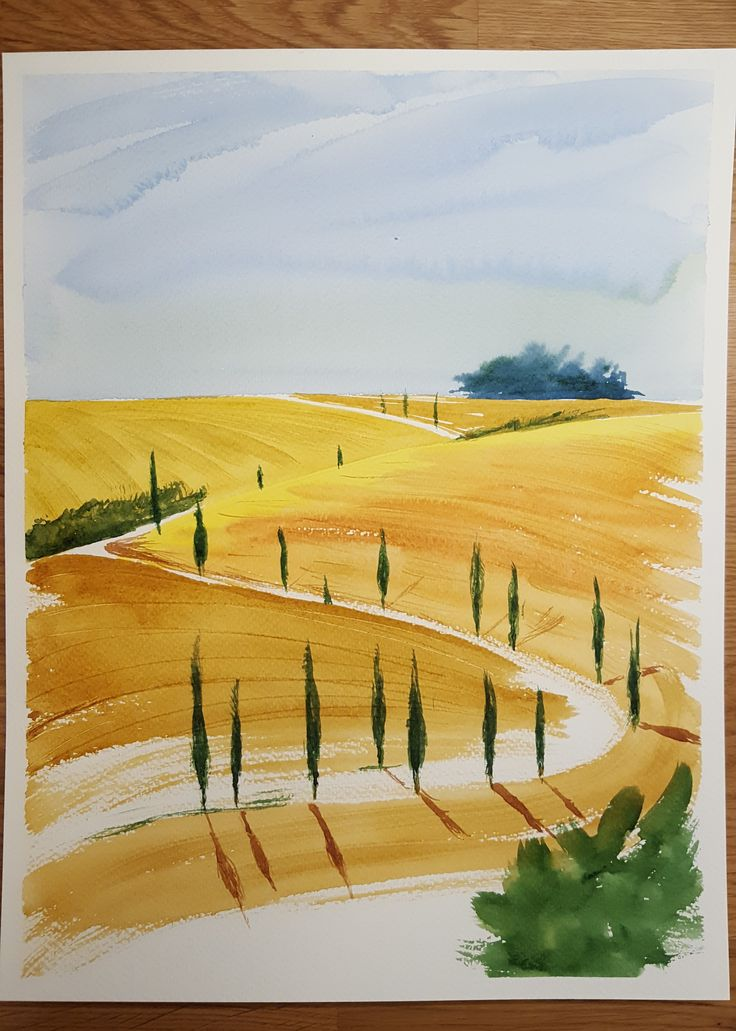 #watercolor #tuscany