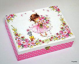 Krabičky - Šperkovnička pre dievčatko ružová - 7516615_