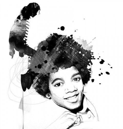 Illustration - David Despau - The Mushroom Company - michael jackson kid, portrait