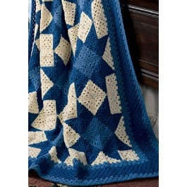 Star Granny Afghan - Purchased Crochet Pattern - (leisurearts)