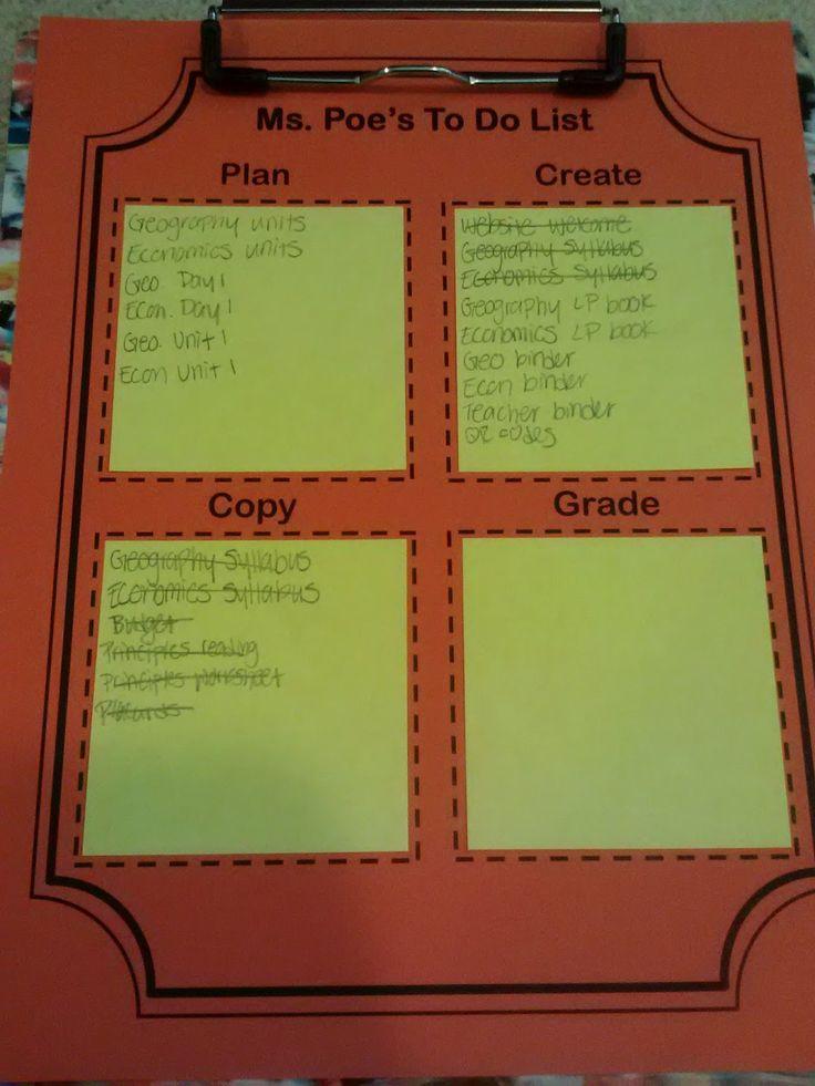 Argyle & Polka Dots: To Do List- Teacher Style!