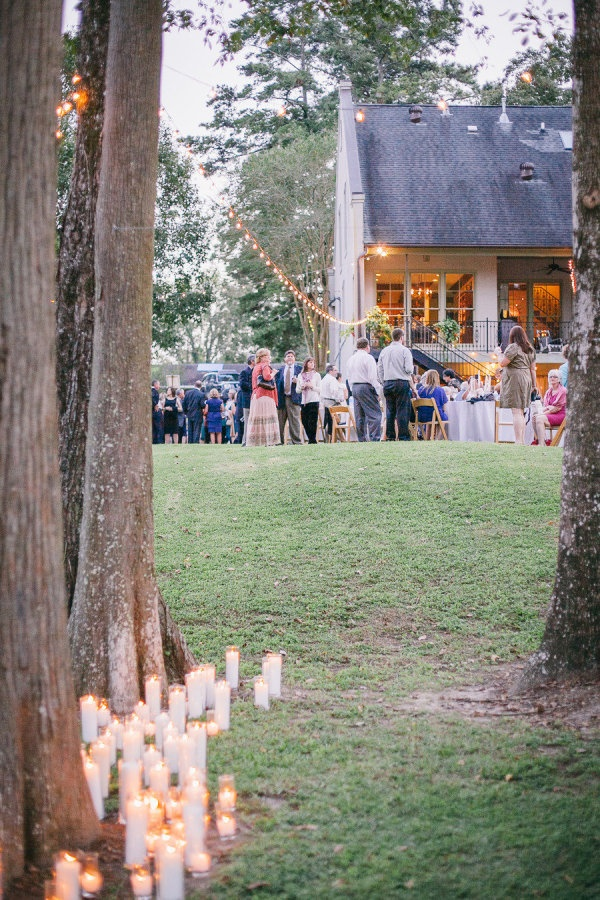 a trail of candles leading to the party  Photography By / bonniesen.com, Coordination and  Floral Design By / bobbirice.com/