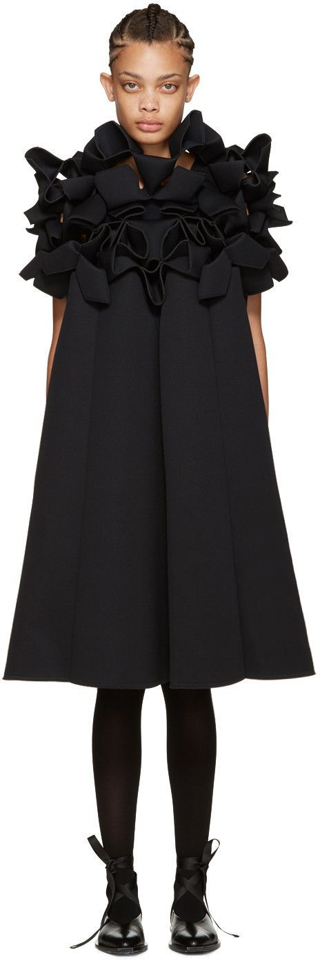 Junya Watanabe - Black Structured Dress