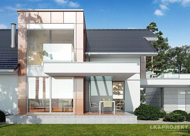 Projekty domów LK&Projekt LK&1123 wizualizacja 4