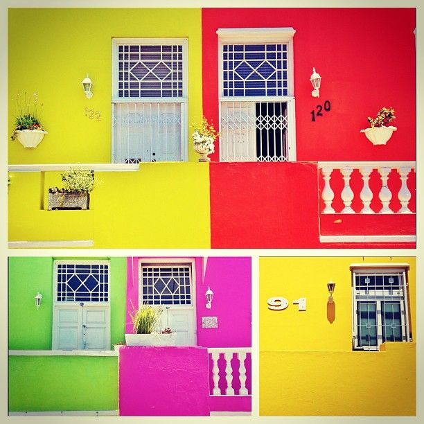 ape Town's colourful Bo Kaap neighbourhood is a visual masterpiece with cobblestoned streets.