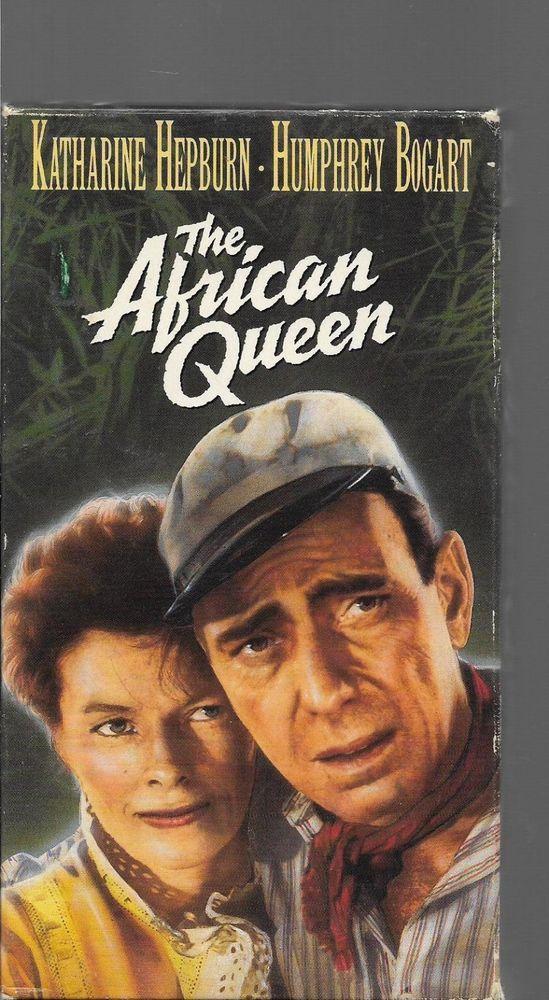 The African Queen VHS Humphrey Bogart Katherine Hepburn John Huston