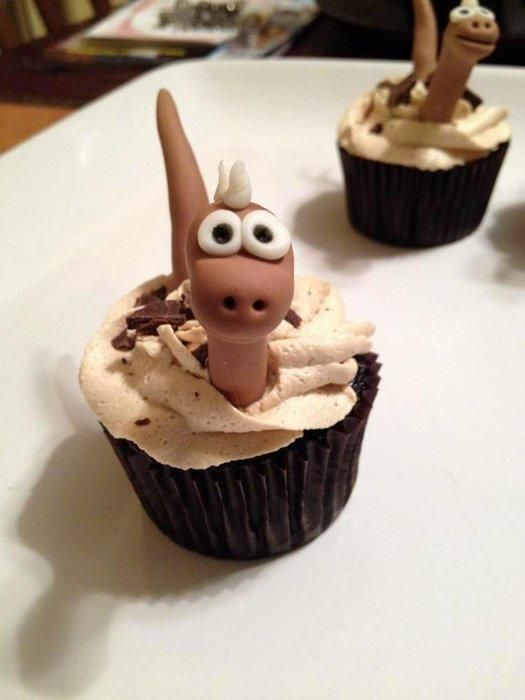 Dinosaur cupcakes are dino-mite! by Random Acts of Sweetness