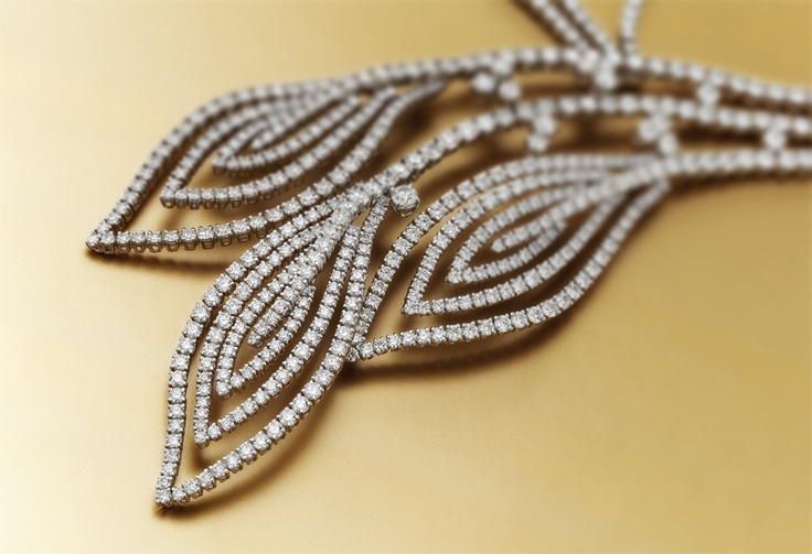 Audrey by #Chimento #Couture. White #gold #necklace with white #diamonds
