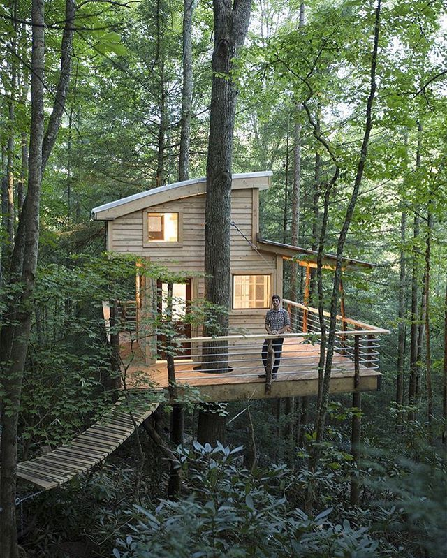 Living in the woods #cabin