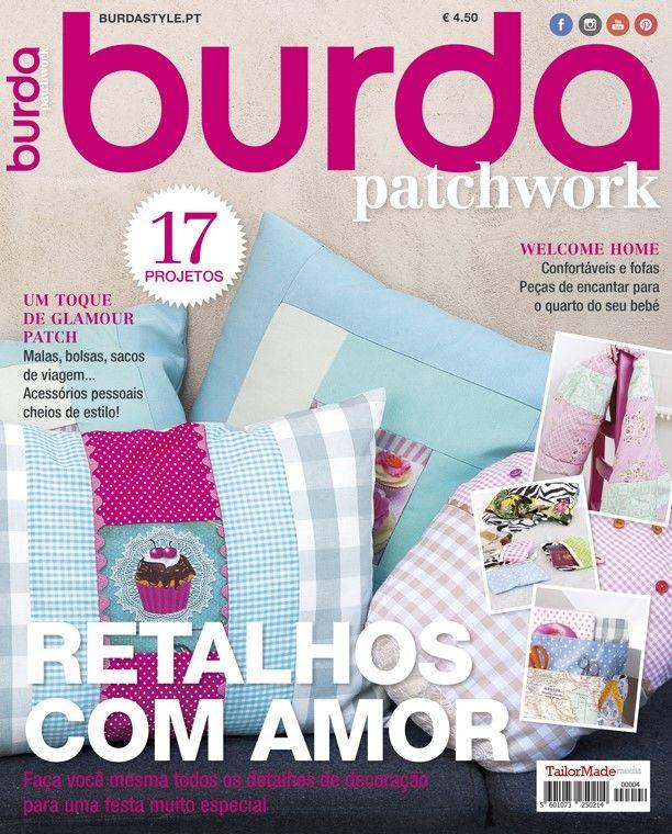 Temos por aqui fãs de patchwork? Sexta-feira chega às bancas uma nova revista com 17 novos projetos. Uma edição a não perder! #patchwork #quilt #burdastyle #burda