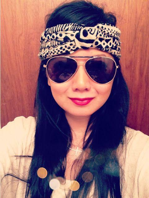 For wrangling backpacking hair Turban Headband DIY - no sew