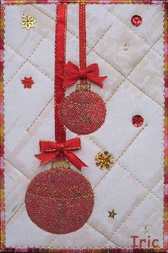 Beautiful fabric postcard ♥                                                                                                                                                                                 More