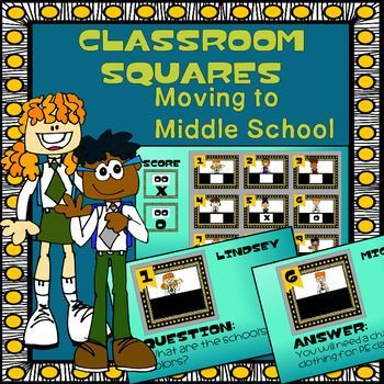 Moving to Middle School Game Show is modeled after a popular prime time TV Game Show, helps talk to 4th, 5th, and 6th grade classes about the transition from elementary school to middle school. It's a fun and engaging way to talk about classes, school procedures, elective offerings, and tips for success, and life after the bell.There are two game rounds and this PowerPoint document and can be edited for your specific school information.