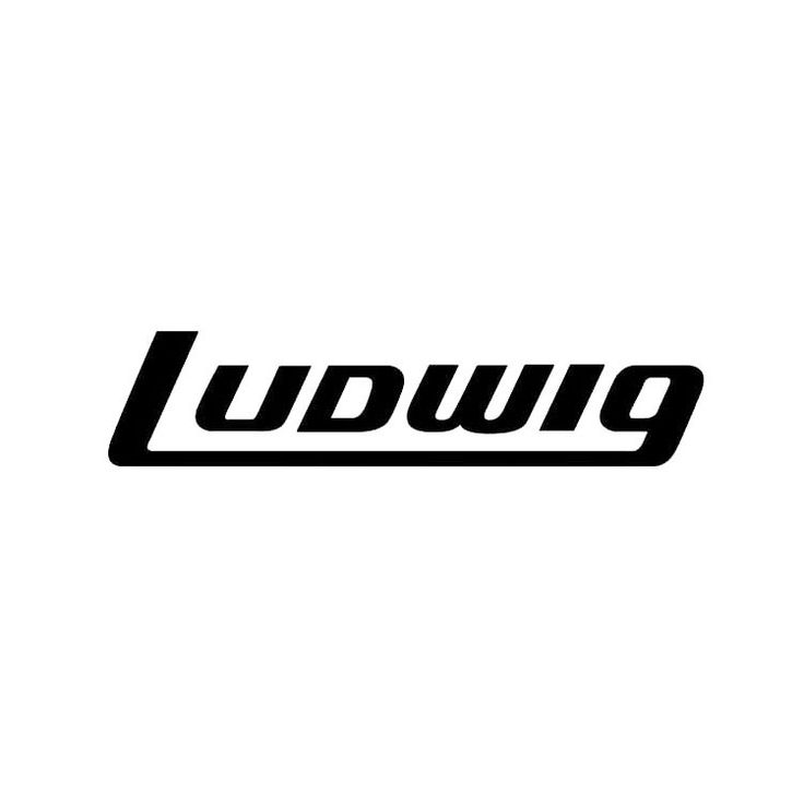 Ludwig Black Bass Drum Logo Sticker