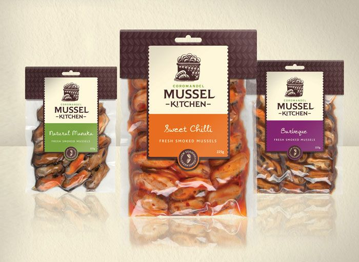 Packaging For A Family Owned And Operated Mussel Farming Business Called The Coromandel Kitchen
