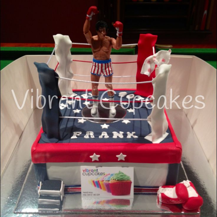 Rocky Balboa 40th Boxing Ring Cake Vibrant Cupcakes Own