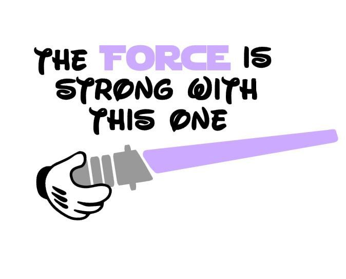 The Force Is Strong Jedi Lightsaber instant download cut file for electronic cutting machines (SVG DXF EPS ps Studio3 Studio) by bibberberry on Etsy https://www.etsy.com/listing/263037802/the-force-is-strong-jedi-lightsaber