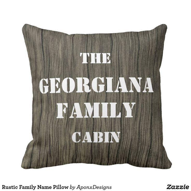 Rustic Family Name Pillow