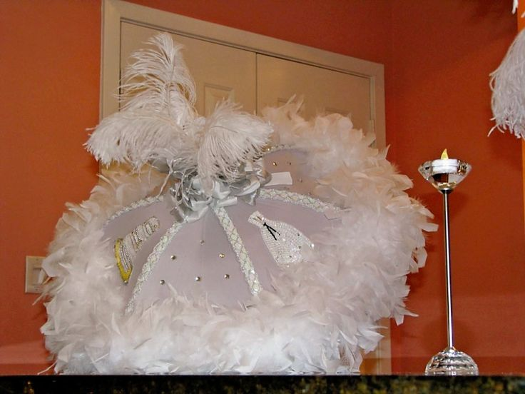 for all things creative!: All White Bridal Shower from Reader! ❤️I pinned this for fun because it's the first thing U think of when U hear the words Bridal Shower. I couldn't help myself, I had to pin this. I love bling and feathers!!!❤️