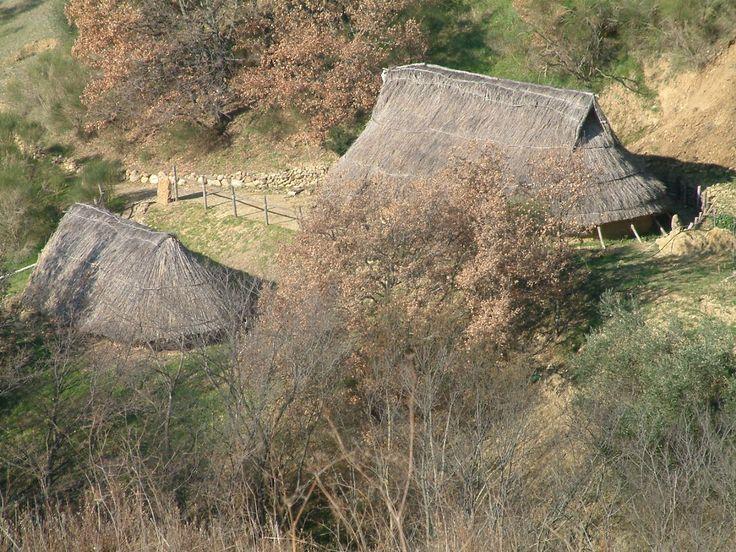 I paleo abitati sono stati ricostruiti rispettando un possibile scenario riconducibile al sito del bronzo finale, prima età del ferro