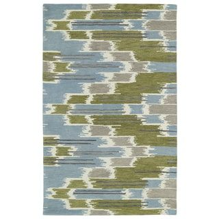 Shop for Hand-tufted de Leon Ikat Wasabi Rug (5'0 x 7'9). Get free shipping at Overstock.com - Your Online Home Decor Outlet Store! Get 5% in rewards with Club O! - 16657453