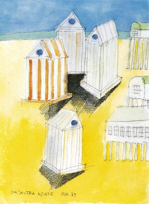 Aldo Rossi, Un' altra estate, Studio per l'Armadio Cabina dell'Elba, 1979