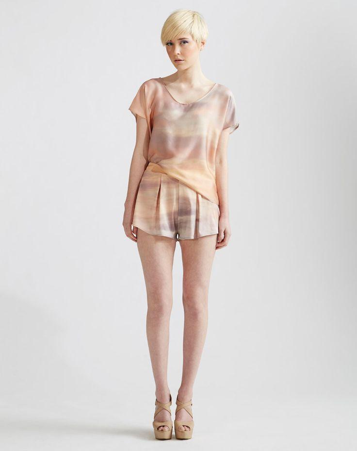 Sunrise Series - Silk Kimono Tee & Shorts www.jenkinsandjane.com.au