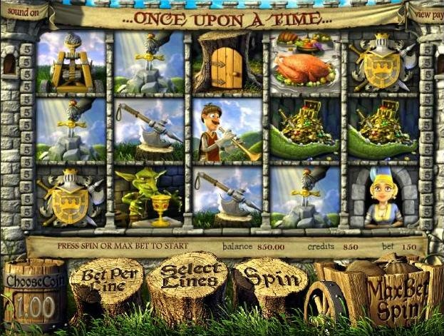 Enjoy totally free play on the Once Upon a Time 3D video slots game at 1OnlineCasino.com