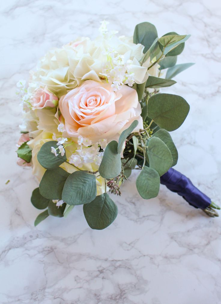 Diy Bouquet Wedding Artificial Flowers How To Make