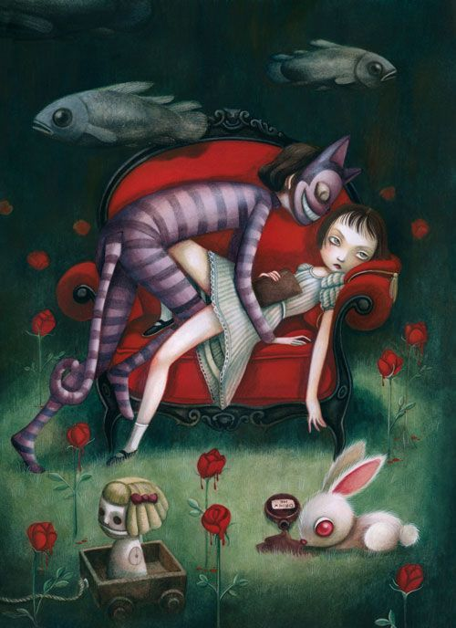 "Benjamin Lacombe, ""Eat me Drink me"" via Dorothy Circus Gallery"