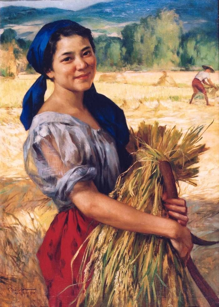 A small collection of Fernando Amorsolo's paintings in