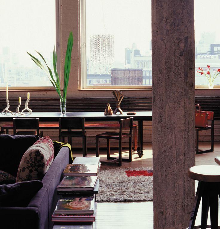 Apartment LoriGoldstein Interiors Decor New York PostDining