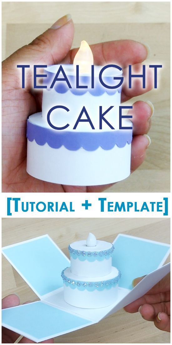 [Tutorial + Template] Tealight Cake