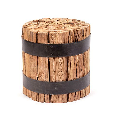 Hudson - wood log barrel stool