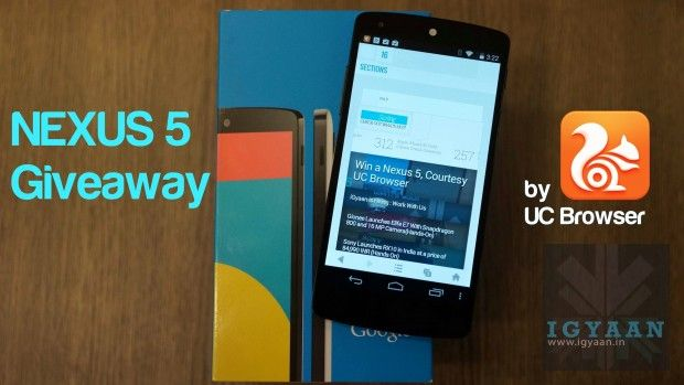 An @iGyaan #giveaway ! This time a #Nexus5 courtesy #UCBrowser, Try your luck too, Go Here : is.gd/Aaik01   #iGyaan