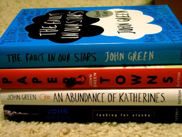 John Green books :) (source: @Ashlee Redger)
