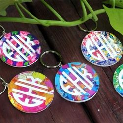 Monogram Keychains. Cute Gift idea for the girls.