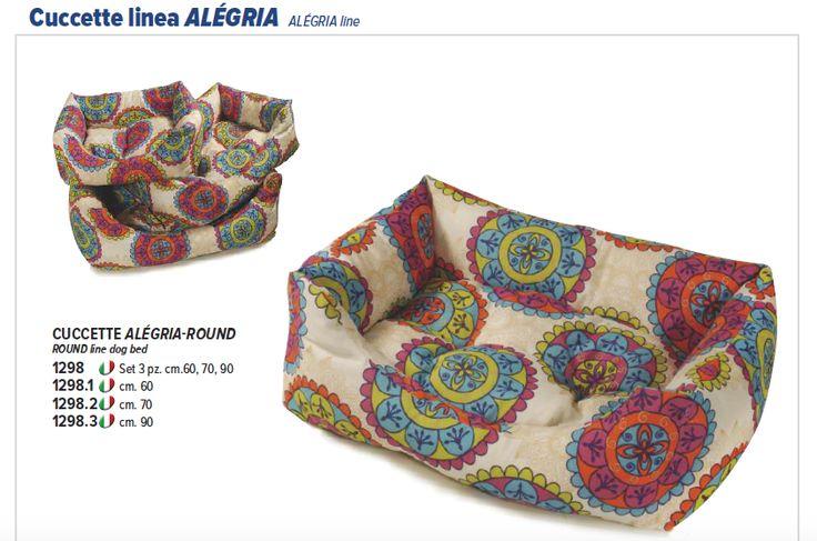 Cuccette per cani Recordit, con simpatiche fantasie colorate, linea Alégria. www.recordit.com/