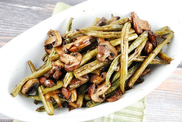 ... Points (LaaLoosh) | Roasted Green Beans, Green Beans and Mushrooms