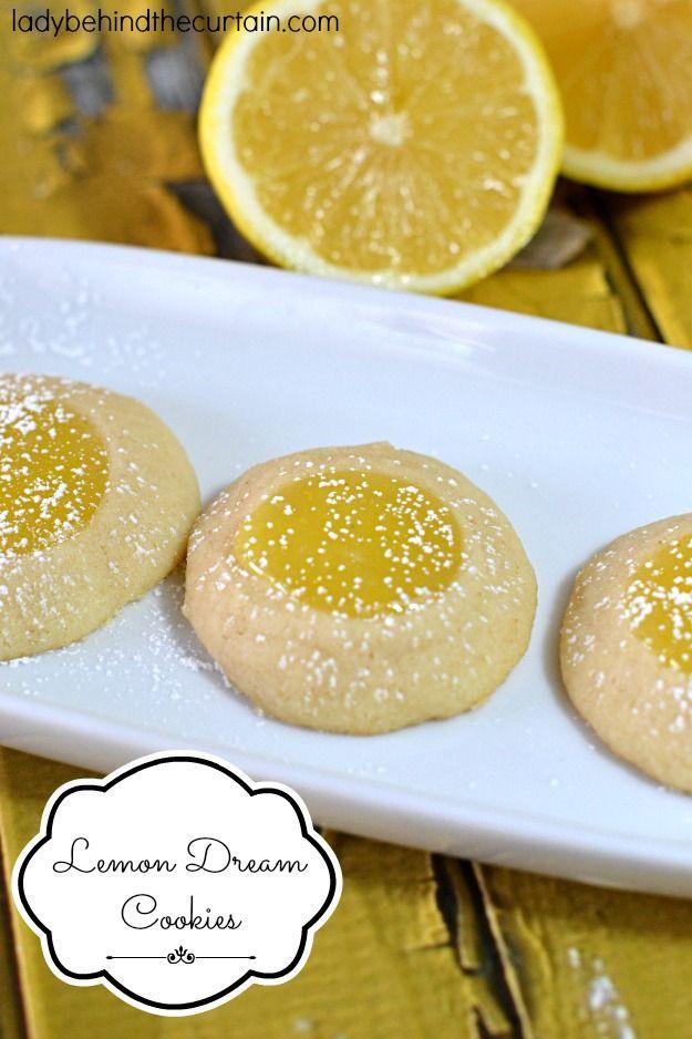 Lemon Dream Cookies - Lady Behind The Curtain